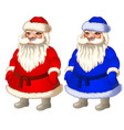 set of animated santa claus in red and blue vector image