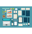 set of mock up business template office tool vector image vector image