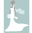 Silhouette bride vector image vector image