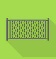 small metal fence icon flat style vector image