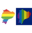 spectrum pixel dotted ecuador map vector image vector image