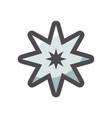 tattoo gray star icon cartoon vector image