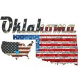 USA state of Oklahoma on a brick wall vector image