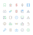 User Interface Colored Line Icons 10 vector image vector image