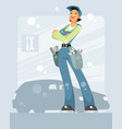 woman car mechanic vector image