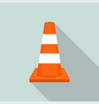work orange road cone icon flat style vector image