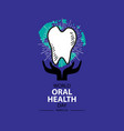 world oral health day march 20 vector image vector image