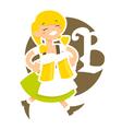 bavarian girl vector image