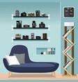 living room furniture-sofa vector image