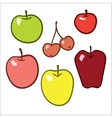 Apple set on a white background vector image