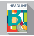 flat design magazine cover flyer brochure vector image