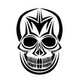 skull tribal tattoo bohemian decoration image vector image