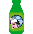 Surprised cow vector image