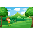 A woman playing golf vector image vector image