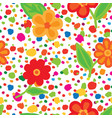 abstract floral seamless pattern with flowers and vector image vector image