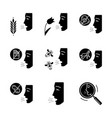 allergies glyph icons set vector image vector image