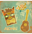 aloha card vector image vector image