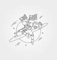 american astronaut with gun background symbol vector image vector image