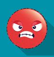 angry emoji emoticon character vector image