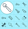 apparatus icons set collection of attraction vector image vector image