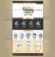 bakery menu concept web site design corporate vector image