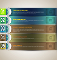 Banner options vector image vector image