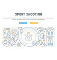 banner sport shooting vector image vector image