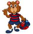 bear student with backpack