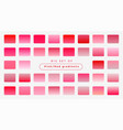 big set soft pink gradients vector image