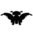 Butterfly silhouette Isolated vector image vector image