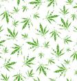 cannabis vector pattern vector image vector image