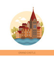 cartoon castle or fortification outdoor view vector image vector image