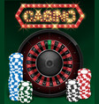 casino gambling background design with realistic vector image vector image