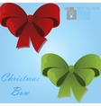 christmas gift bow vector image