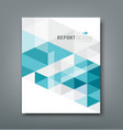 Cover report triangle geometry abstract blue vector image vector image
