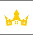 crown house logo design inspiration vector image vector image