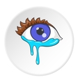 Crying eyes icon cartoon style vector image vector image