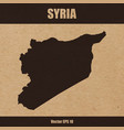 detailed map of syria on craft paper vector image