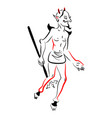 Diablo man vector image