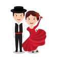 flamenco dancers isolated icon design vector image