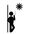 Flat spring rest smoking icon isolated on white vector image vector image