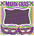 frame for mardi gras vector image
