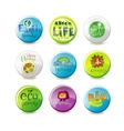 Glass eco badges vector image vector image