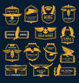 golden eagle and hawk birds heraldic wings icons vector image vector image