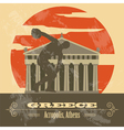 Greece landmarks Retro styled image vector image