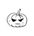 halloween doodle pumpkin element isolated vector image vector image