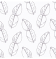 Hand drawn kaffir lime branch outline seamless vector image