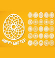 happy easter eggs set vector image