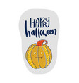 happy halloween text card greeting cards with vector image vector image