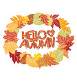 hello autumn colorful sans serif lettering in vector image vector image